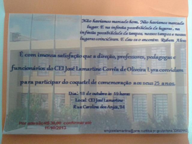 Comemoração aos 25 anos do CEI José Lamartine