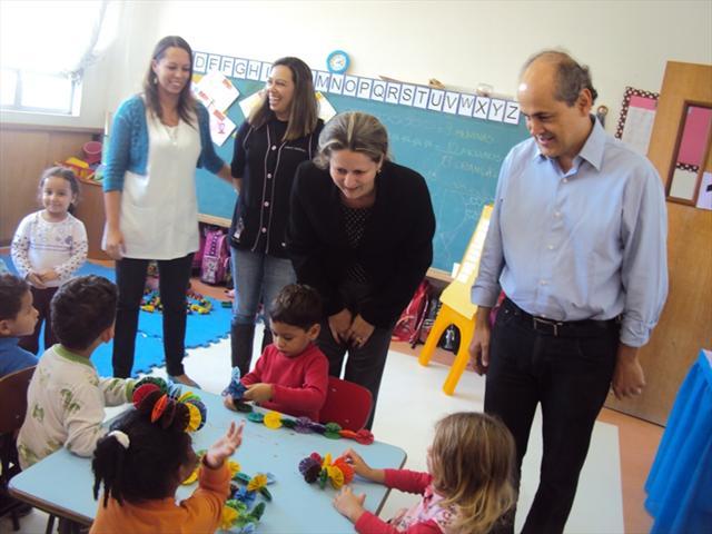 Visita do Prefeito e Secretária de Educação