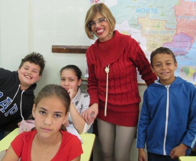 Professora Marlene como é bom sorrir com você!