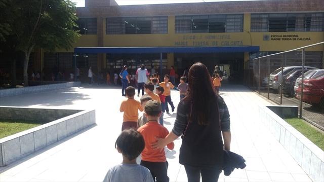 Integração com a escola com as turmas de Pré