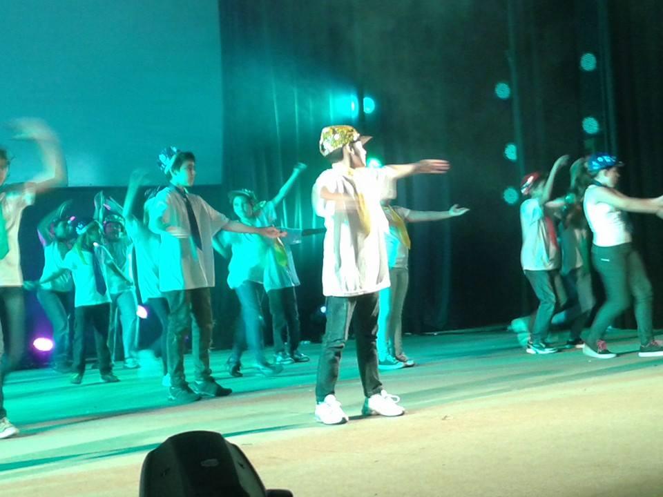 Apresentação do festival de dança.