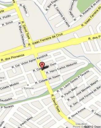 Mapa de localização do CMEI