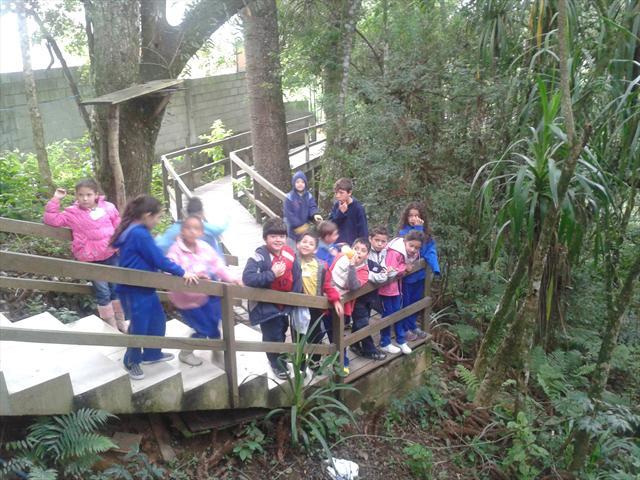 visita à área de preservação ambiental na comunidade.