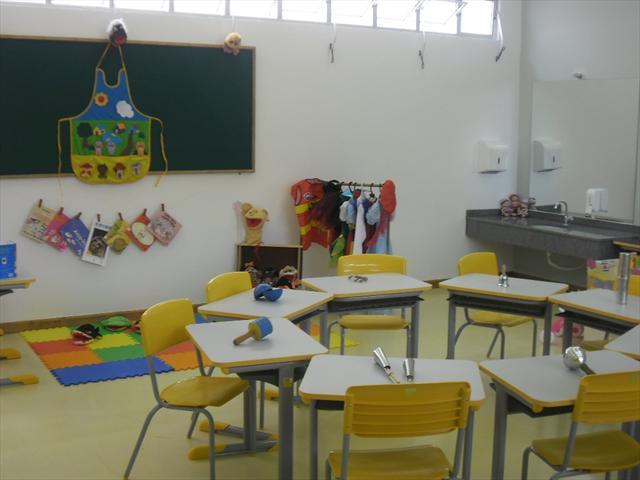 Sala de aula destinada às crianças da Educação Infantil.