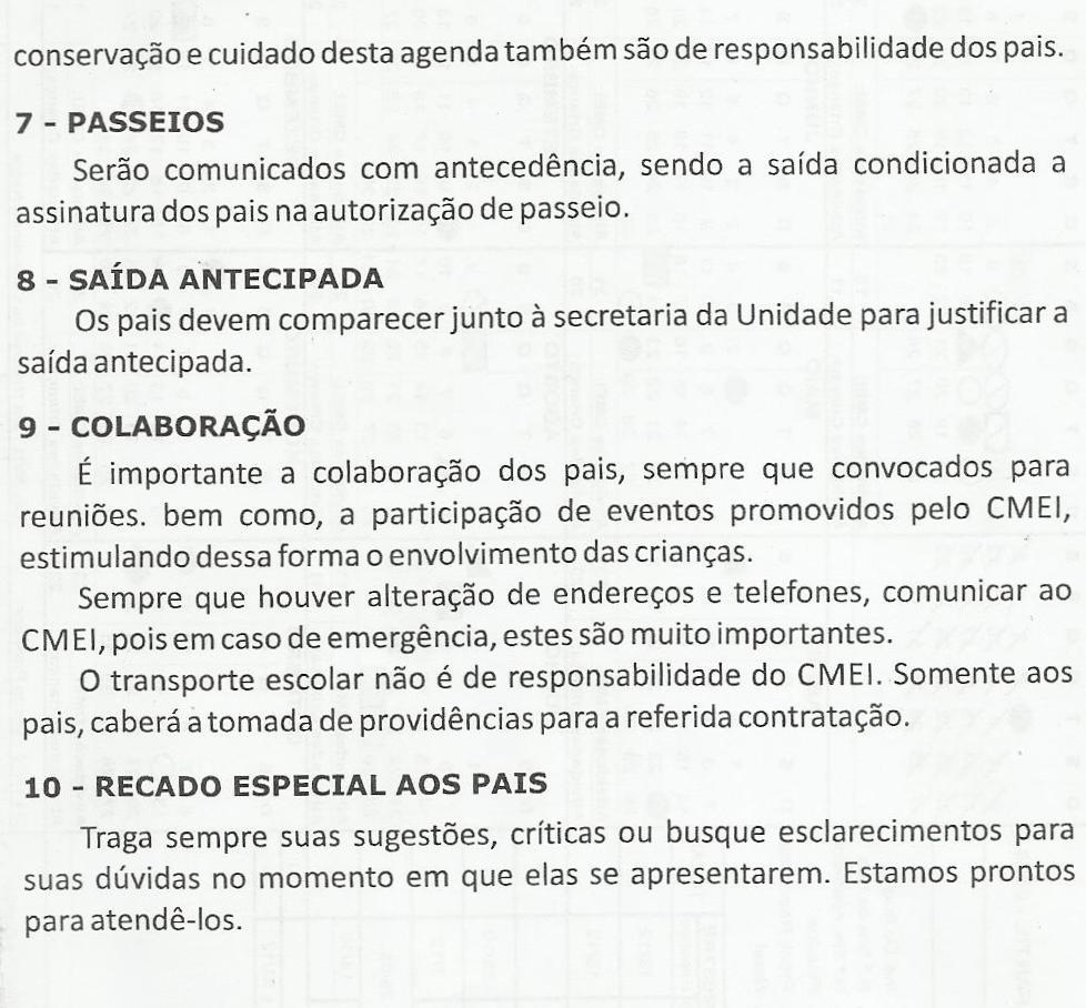 NORMAS DE FUNCIONAMENTO DO CMEI 3