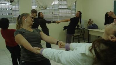 Oficina de Dança com aluna da UFPR