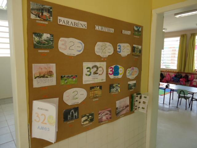 Cartaz confeccionado com as crianças da turma do M