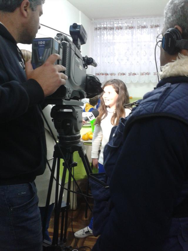 Estudantes da UEI participam de reportagem para a