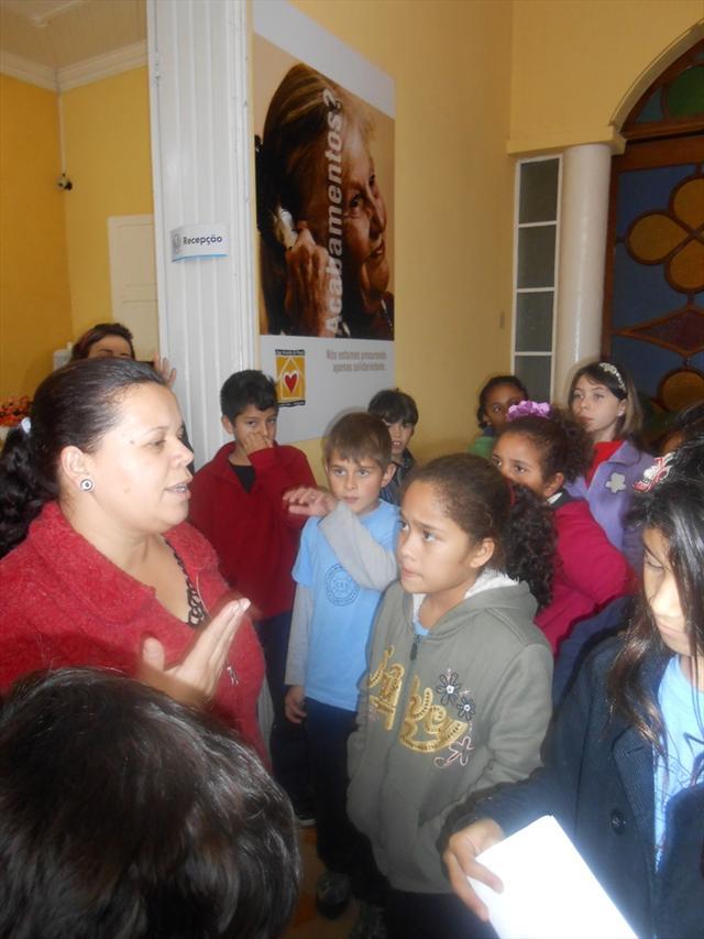 Visita ao asilo - Fábrica da Paz
