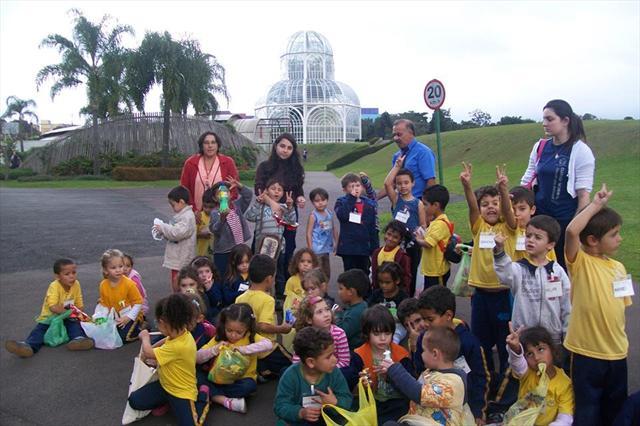 O passeio da ed.infantil ao Jardim Botânico