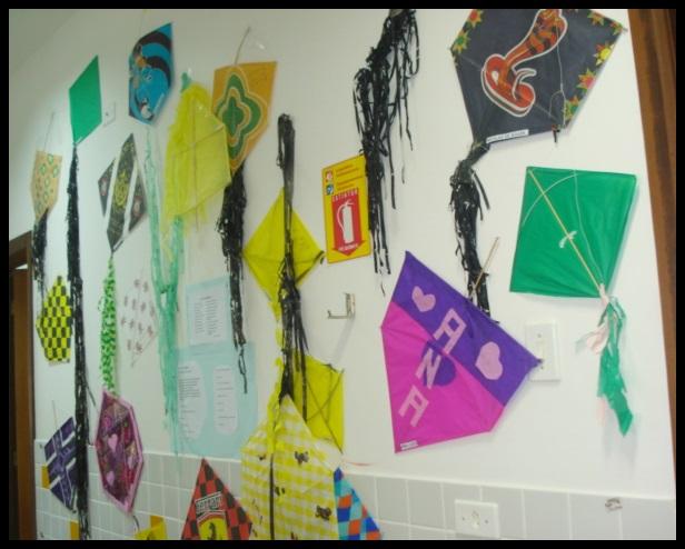 Mostra de trabalho das atividades realizadas no 1° Semestre 2013. As atividades sendo foco de trabalho de todas as profissionais e crianças, com planejamento e responsabilidade.