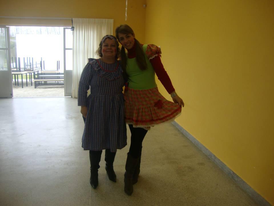 Diretora Sônia e Pedagoga Ana Caroline do CMEI