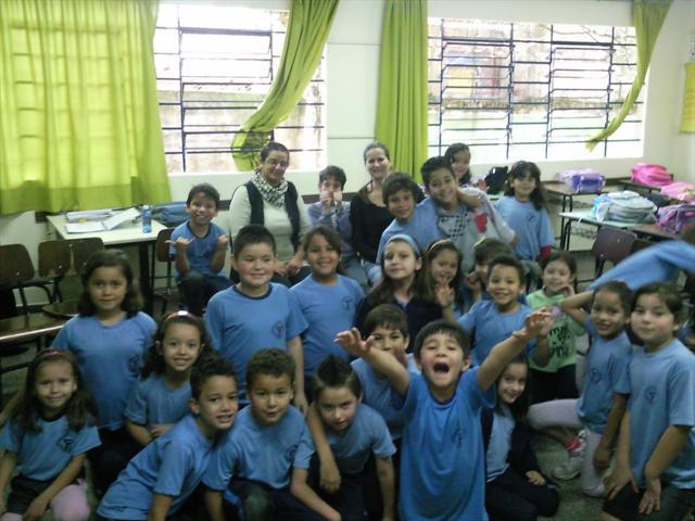 Visita da secretária Roberlayne na Escola Joaquim Távora