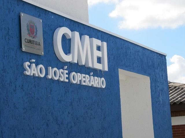 Faxada do Bloco Novo do CMEI São José Operário
