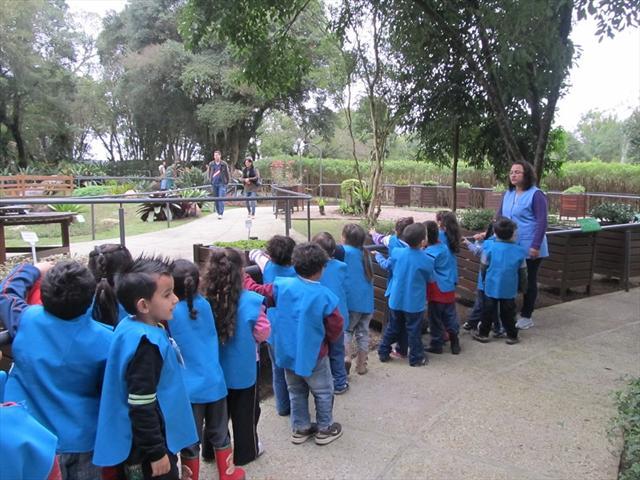 As crianças do Pré no Jardim das Sensações - Jardim Botânico