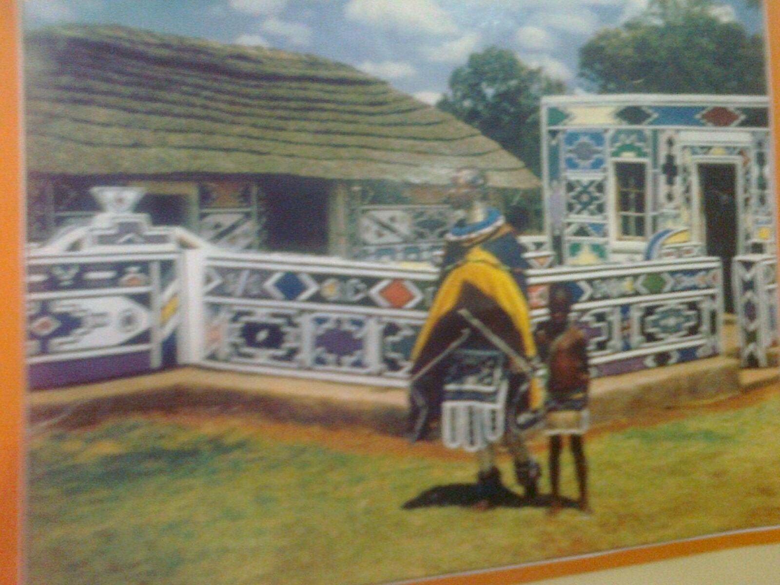 Esther Mahlangu - casa decorada