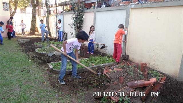Implantação de horta na escola