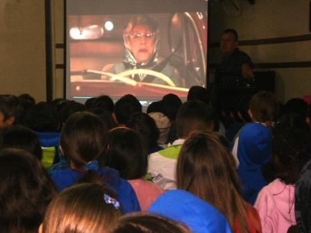 Palestra sobre trânsito e vídeo Vó Gertrudes