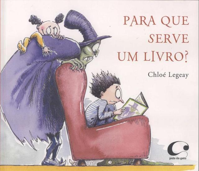 Capa do livro infantil Para que serve um livro?