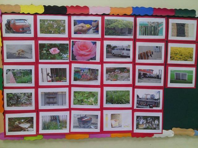 Exposição de fotos dos alunos do 2º ano C.