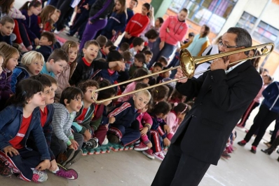 Banda Lyra na Escola Paranavaí