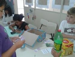 Os alunos simularam a compra de produtos com nota