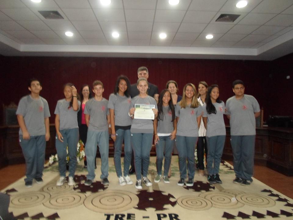 Diplomação do Grêmio Estudantil da Escola Municipal Júlia Amaral Di Lenna