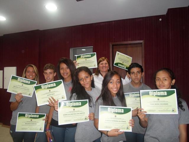 Diplomação do Grêmio Estudantil da Escola Municipa