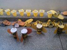 As abelhas e o favo de mel