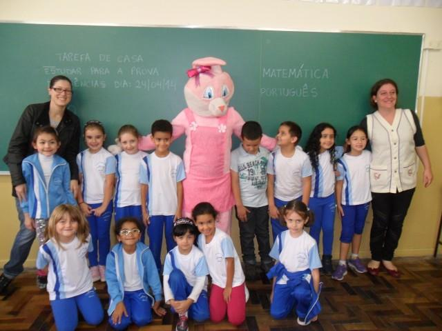 Visita do coelhinho da páscoa 2014
