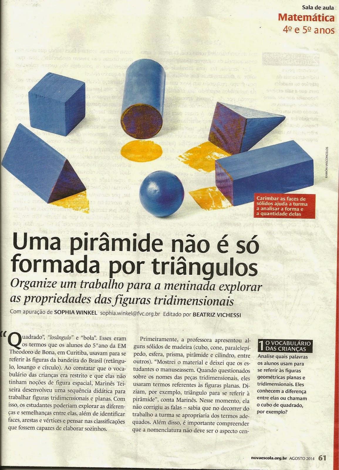 Matéria na Revista Nova Escola - EM Theodoro de Bona