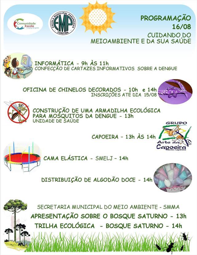 PROGRAMAÇÃO COMUNIDADE ESCOLA  - 16/08