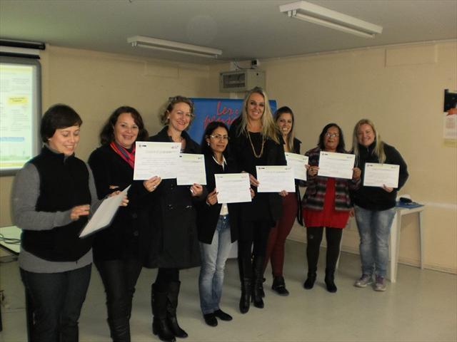 Profissionais da Educação de Jovens e Adultos da Escola Municipal CEI Augusto César Sandino participaram do Seminário Boas Práticas Ler e Pensar