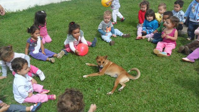 As Crianças Do MI Receberam Uma Visita Inesperada