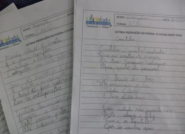 Poemas escritos alunos 5ª ano - B