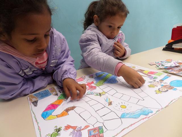 Educação Infantil confecciona jogos de percurso