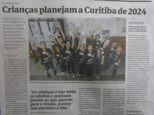 Alunos do CEI do Expedicionário são destaque em reportagem de capa da Gazeta do Povo!