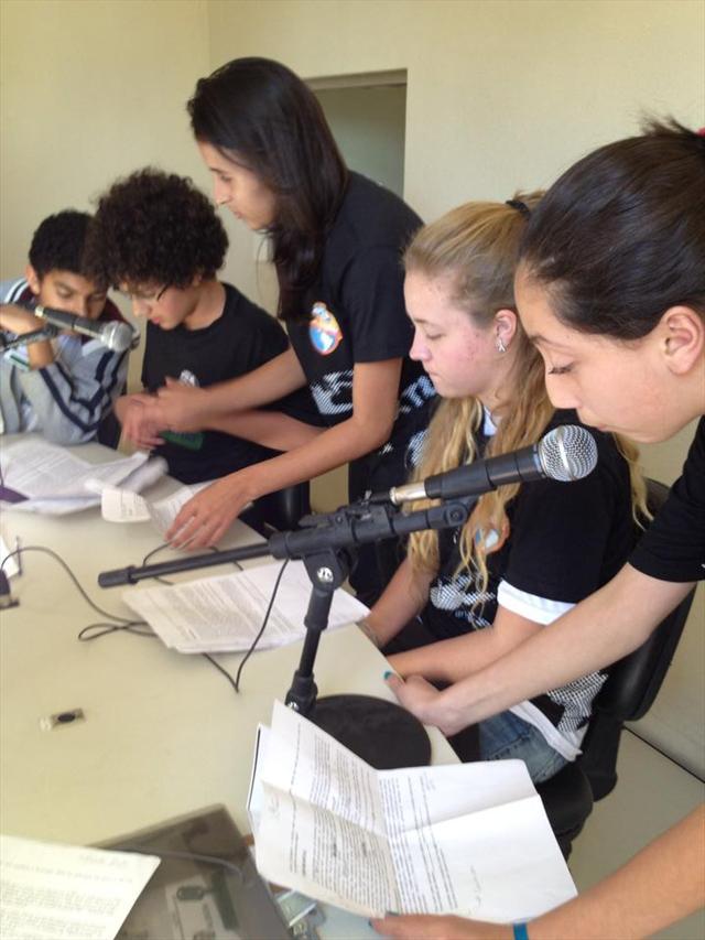 gravação rádio escola