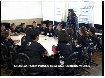 Crianças de escolas públicas participam de projeto por uma Curitiba melhor