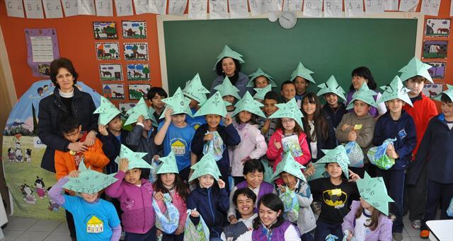14.09.05.  Origami Nas Escola. Escola Municipal  J
