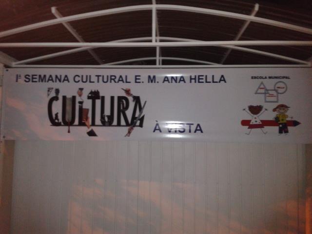 A semana cultural contou com uma grande participaç