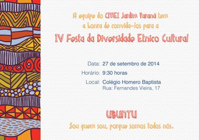 IV Festa da Diversidade Etnico Cultural 2014