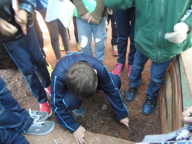 Alunos  do 4º ano realizam experiência sobre o solo
