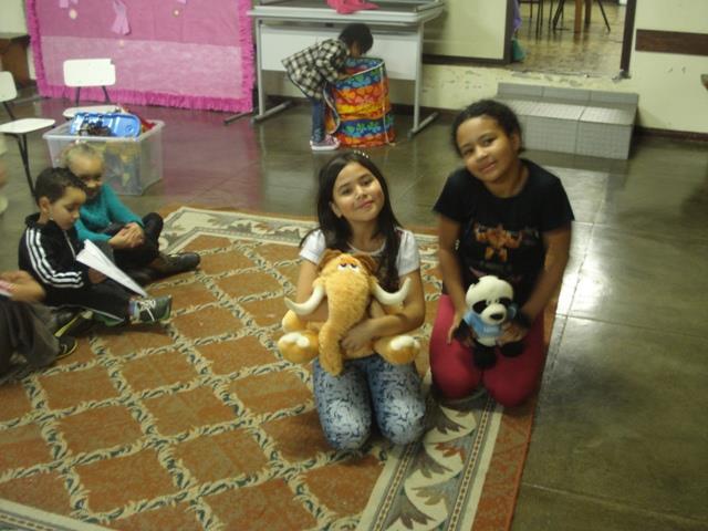 Dia das Crianças na Sala do Acolhimento da E.M. Colombo