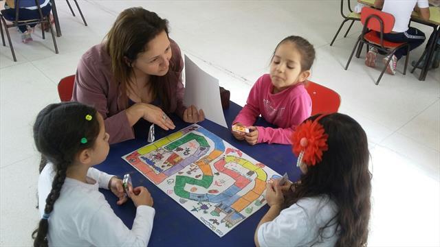 Visita da Escola Municipal Professora Miracy Rodrigues de Araújo - Concurso de Jogos de Tabuleiro na Educação Infantil