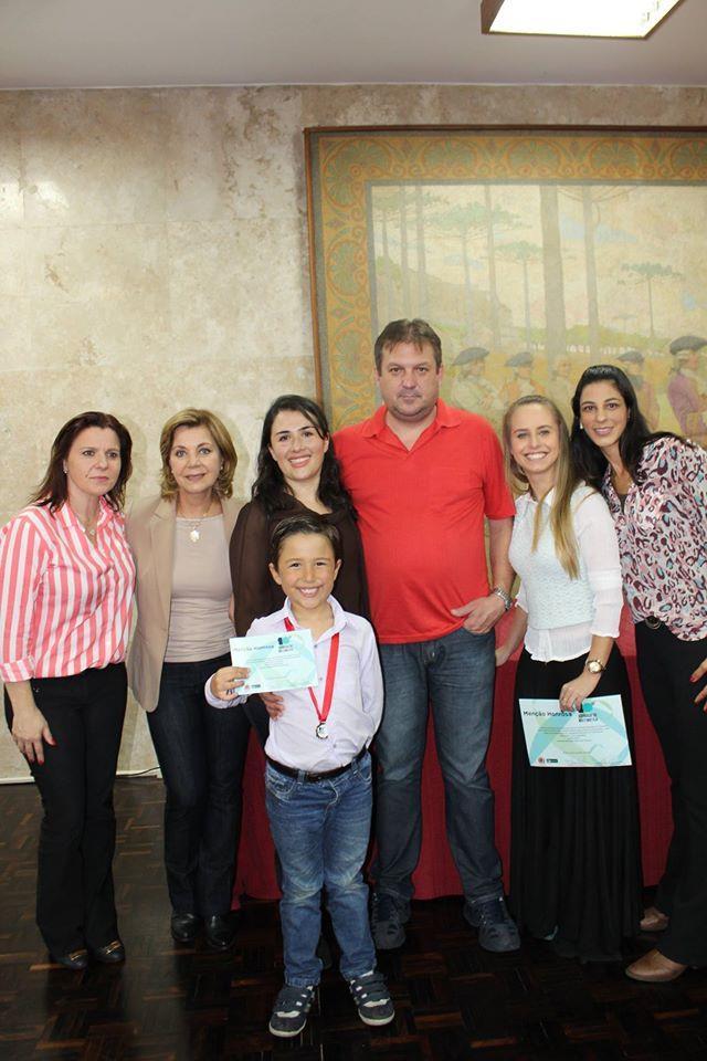 Bruno, aluno da escola e da UEI, foi o 3º colocado