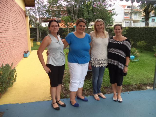 Visita da Secretária de Educação Municipal Roberlaine em nossa escola.