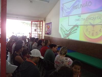 1ª reunião de integração com as famílias