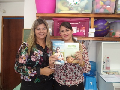Pedagoga Simone e Professora Karen