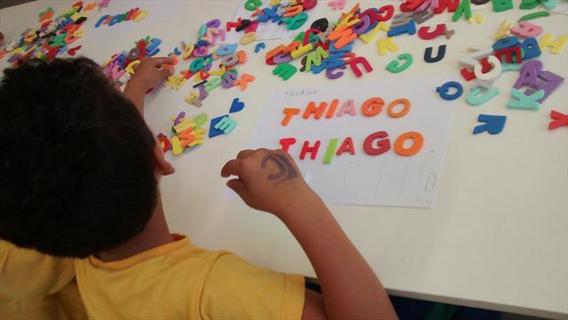 Escrita do nome com o alfabeto